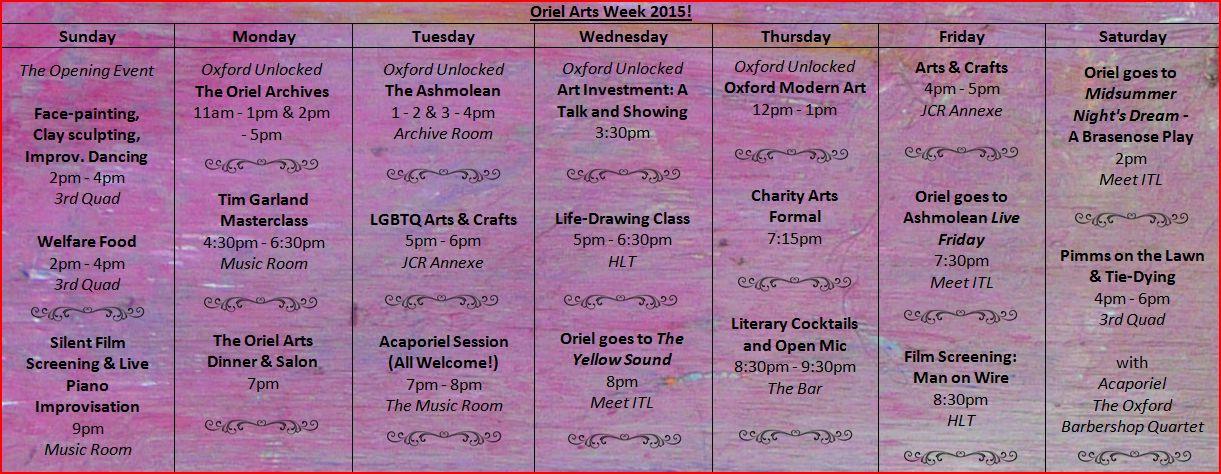 artsweektimetable