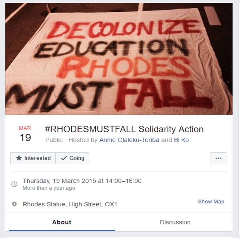 #RHODESMUSTFALL Solidarity Action